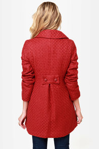 Tulle Cinnabar Rust Red Coat at Lulus.com!