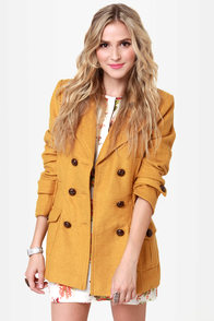 Bundle Me Up Mustard Yellow Coat