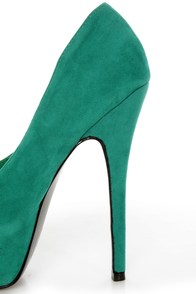 Mystic Sea Green Platform Pumps