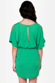 What a Looker Cutout Teal Dress at Lulus.com!