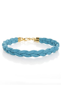Made to Braid Blue Bracelet at Lulus.com!