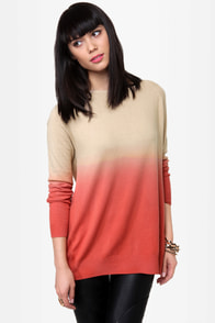 Sunrise, Sunset Beige Ombre Sweater