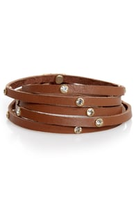 In High Diamond Brown Leather Wrap Bracelet at Lulus.com!
