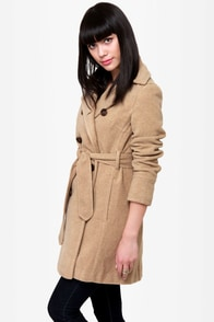 THML Lean On Me Beige Trench Coat at Lulus.com!
