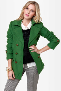 Bundle Me Up Green Coat