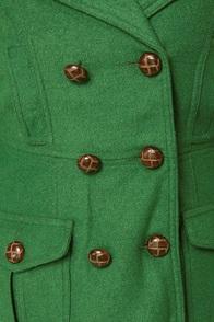 Bundle Me Up Green Coat at Lulus.com!