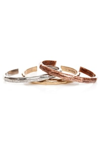 Mink Pink Three's a Charm Bangle Set at Lulus.com!