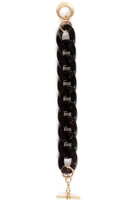Always You Black Chain Bracelet