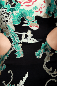Moon Festival Floral Cutout Dress at Lulus.com!