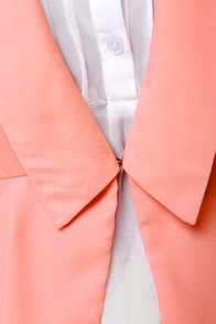 Office Romance Peach Blazer at Lulus.com!