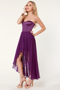 Blaque Label Star Status Strapless Purple Dress at Lulus.com!