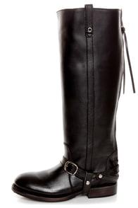 Zigi Girl Bandit Black Belted Knee High Riding Boots