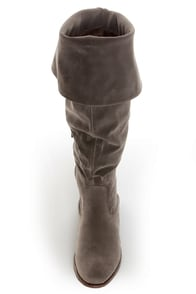 Dollhouse Moscow Taupe Suede Over the Knee Boots at Lulus.com!