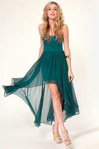 Blaque Label Star Status Strapless Teal Dress at Lulus.com!