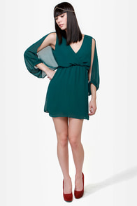 Wide Open Spaces Dark Teal Dress at Lulus.com!