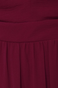LULUS Exclusive Rooftop Garden Backless Burgundy Maxi Dress at Lulus.com!