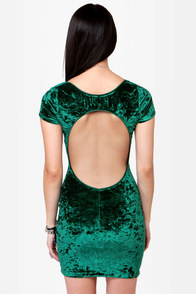 One Rad Girl Paige Green Velvet Dress at Lulus.com!