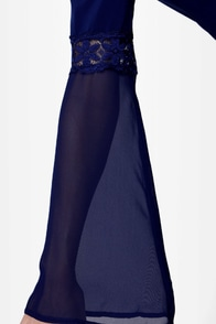 Forty Day Dream Navy Blue Lace Dress at Lulus.com!