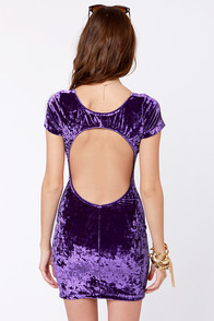 One Rad Girl Paige Purple Velvet Dress at Lulus.com!