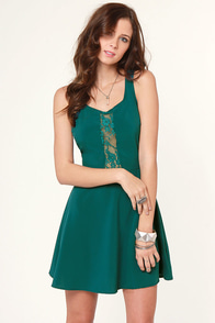 Name of the Game Teal Dress at Lulus.com!