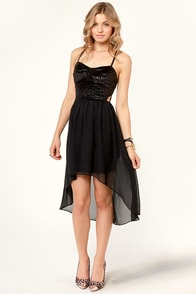 Kiss from a Rose Black Dress at Lulus.com!