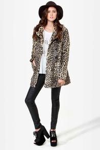 Glamour Spots Animal Print Coat at Lulus.com!