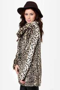 Glamour Spots Animal Print Coat at Lulus.com!