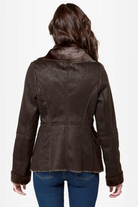 Black Forest Shearling Brown Coat at Lulus.com!