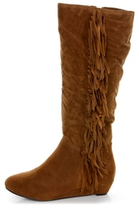 Havana 11 Tan Fringe Knee High Boots at Lulus.com!