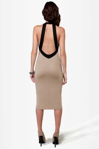 LULUS Exclusive Longing For Beige Midi Dress at Lulus.com!