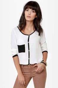 Certified Fresh Black and Ivory Top at Lulus.com!
