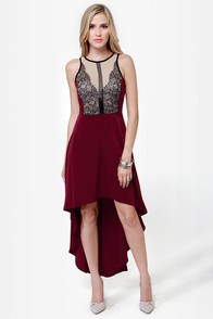 Grand Gesture Burgundy Lace Dress