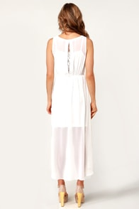 Queen of Sheba Beaded Ivory Dress at Lulus.com!