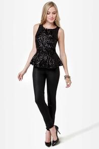 Glitterati Black Sequin Top at Lulus.com!
