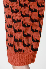 Mink Pink Once a Cheetah Orange Print Sweater at Lulus.com!