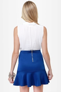Flute-y Pie Blue Mini Skirt at Lulus.com!