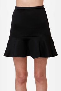 Flute-y Pie Black Mini Skirt at Lulus.com!