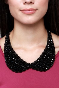 Dazzling Days Black Collar Necklace at Lulus.com!