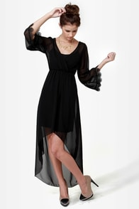 Hollywood Set Black High-Low Dress at Lulus.com!