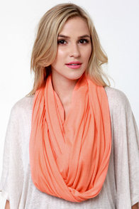 Bright Time Neon Coral Infinity Scarf at Lulus.com!