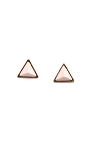 Giza Louise-a Pink Pyramid Earrings at Lulus.com!