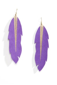 Claire Fong Tiger Lily Feather Earrings at Lulus.com!