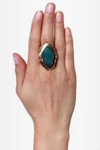 Zad Green Agate Ring at Lulus.com!