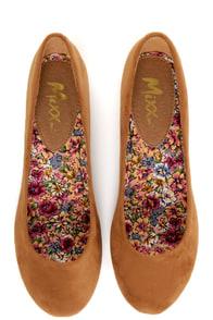 Mixx Shuz Amy 07 Cognac Ballet Flats at Lulus.com!