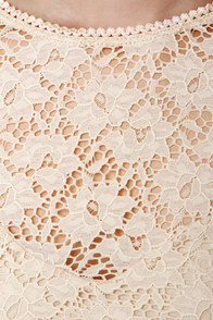 The Space Between Beige Lace Dress at Lulus.com!