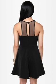 Skip to the Plunge-line Black Dress at Lulus.com!