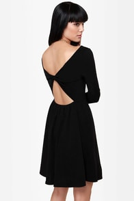 Recent Twistery Black Skater Dress at Lulus.com!