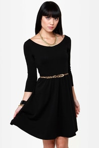 Recent Twistery Black Skater Dress at Lulus.com!