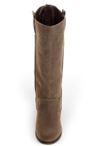 Mixx Shuz Dess Olive Green Riding Boots at Lulus.com!