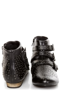 C Label Elaine 6 Black Studded Ankle Boots at Lulus.com!